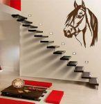 Porovnání ceny Shopnisi Samolepka na zeď Hlava koně, 80 x 60 cm, 080 - hnědá