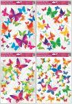Porovnání ceny Anděl Přerov Okenní fólie rohová barevní motýli 42x30cm set