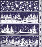 Porovnání ceny Anděl Přerov Okenní fólie vánoční krajinky pruh 45x12cm set