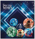 Porovnat ceny GB eye Odznak Doctor Who Pin Badges 6-Pack Retro