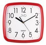 Porovnání ceny Červené dětské hranaté nástěnné netikající tiché hodiny JVD sweep HP615.14