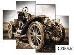Porovnání ceny EVK Obraz retro auto 4 díly; xxl; rám modern 2mm