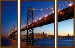 Porovnání ceny EVK Obraz most 3 díly; xxl; vnější rám