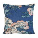 Porovnání ceny HK living Polštář Japanese Floral 45x45 cm, modrá barva, textil