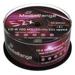 Porovnat ceny VERBATIM MEDIARANGE CD-R 700MB 52x Inkjet Fullsurface-Printable spindl 50pck/bal