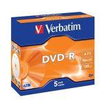 Porovnat ceny VERBATIM DVD-R (5-pack)Jewel/16x/4.7GB