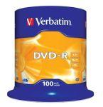 Porovnat ceny VERBATIM DVD-R(100-Pack)Spindle/General Retail/16x/4.7GB
