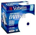 Porovnat ceny VERBATIM DVD+R(10-Pack)Printable/Jewel/16x/4.7GB