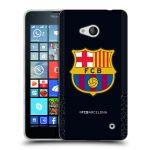 Porovnání ceny Head Case Designs Silikonové pouzdro na mobil Microsoft Lumia 640 - Head Case - FC Barcelona - Goalkeeper black logo