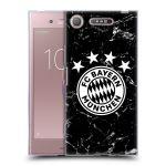 Porovnání ceny Head Case Designs Silikonové pouzdro na mobil Sony Xperia XZ1 - Head Case - FC Bayern Mnichov - Logo mramor