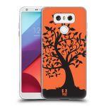 Porovnání ceny Head Case Designs Silikonové pouzdro na mobil LG G6 - Head Case SPLETITÝ STROM ORANŽOVÝ