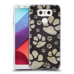 Porovnání ceny Head Case Designs Silikonové pouzdro na mobil LG G6 - Head Case TLAPKY ŠEDÉ