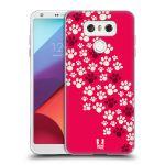 Porovnání ceny Head Case Designs Silikonové pouzdro na mobil LG G6 - Head Case TLAPKY RŮŽOVÉ