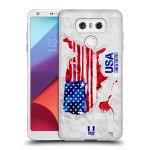 Porovnání ceny Head Case Designs Silikonové pouzdro na mobil LG G6 - Head Case GEOMAPA USA