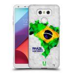 Porovnání ceny Head Case Designs Silikonové pouzdro na mobil LG G6 - Head Case GEOMAPA BRAZÍLIE