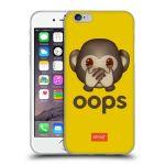 Porovnání ceny Head Case Designs Silikonové pouzdro na mobil Apple iPhone 6 HEAD CASE EMOJI - Opička OOPS