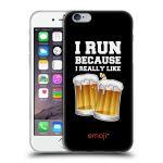 Porovnání ceny Head Case Designs Silikonové pouzdro na mobil Apple iPhone 6 HEAD CASE EMOJI - Běhám na pivko