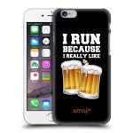 Porovnání ceny Head Case Designs Plastové pouzdro na mobil Apple iPhone 6 HEAD CASE EMOJI - Běhám na pivko