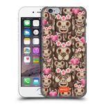 Porovnání ceny Head Case Designs Plastové pouzdro na mobil Apple iPhone 6 HEAD CASE EMOJI - Opičky, srdíčka a kytičky
