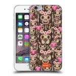 Porovnání ceny Head Case Designs Silikonové pouzdro na mobil Apple iPhone 6 HEAD CASE EMOJI - Opičky, srdíčka a kytičky