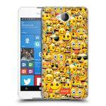 Porovnání ceny Head Case Designs Plastové pouzdro na mobil Microsoft Lumia 650 HEAD CASE EMOJI - Mnoho malých smajlíků
