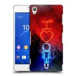 Porovnání ceny Head Case Designs Plastové pouzdro na mobil Sony Xperia Z3 D6603 HEAD CASE NEON I LOVE HIM