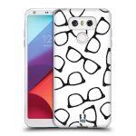 Porovnání ceny Head Case Designs Silikonové pouzdro na mobil LG G6 - Head Case HIPSTER BRÝLE