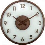 Porovnání ceny Nástěnné hodiny Frosted Wood 50 cm - NEXTIME