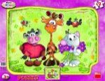 Porovnat ceny Dino Toys Krkouni - rámové puzzle 12 dílků s tvary