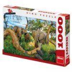 Porovnat ceny Dino Toys Sloni z Botswany - Puzzle 1000 dílků