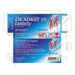 Porovnání ceny MENARINI Dexoket 25 tablety por.tbl.flm.10x25mg