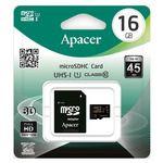 Porovnání ceny Apacer MicroSDHC 16GB + adaptér / Class 10 / UHS-I / čtení: 45MBs / zápis: 20MBs (AP16GMCSH10U1-R)