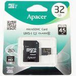 Porovnání ceny Apacer MicroSDHC 32GB + adaptér / Class 10 / UHS-I / čtení: 45MBs / zápis: 20MBs (AP32GMCSH10U1-R)