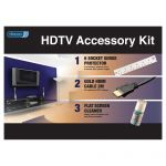 Price comparison Vivanco HDTV Starter Kit – Contains Gold-plated HDMI cable, 6 Socket Surge protector and Flat Screen Cleaner