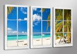 Porovnání ceny Obraz na zeď 160x90cm - 3 díly - 1164 - Okno