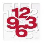 Porovnání ceny Luxusní moderní červeno-bílé nástěnné hodiny JVD TIME H106.2