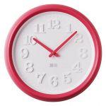 Porovnání ceny Dětské růžovo/červené nástěnné hodiny JVD TIME H102.3