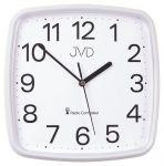 Porovnání ceny Bílé přesné hranaté rádiem řízené levné hodiny JVD RH616.1