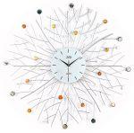 Porovnání ceny Luxusní obrovské velké hodiny design JVD HJ65 s bar. kamínky - průměr 80cm