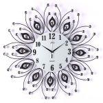 Porovnání ceny Obrovské luxusní kovové černé nástěnné designové hodiny JVD HJ38 pr. 58cm