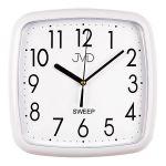 Porovnání ceny Bílé hranaté plastové nástěnné netikající tiché hodiny JVD sweep HP615.5