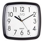 Porovnání ceny Černé moderní nástěnné netikající tiché hodiny JVD sweep HP615.11