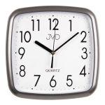 Porovnání ceny Šedo stříbrné hranaté nástěnné hodiny JVD quartz H615.17