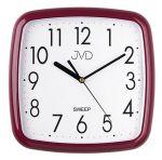 Porovnání ceny Červené bordové nástěnné tiché netikající hodiny JVD sweep HP615.13