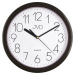 Porovnání ceny Černé moderní nástěnné netikající hodiny JVD sweep HP612. 3