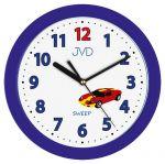 Porovnání ceny Modré dětské nástěnné hodiny JVD H12.5 se závoďákem (auto)