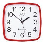 Porovnání ceny Červené hranaté rádiem řízené přesné levné hodiny JVD RH616.4
