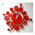 Porovnání ceny Laskowscy Design Designové nástěnné hodiny Camea V 43cm Laskowscy barvy kov červená RAL 3020