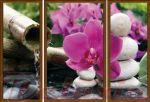 Porovnání ceny EVK Obraz orchidej 3 díly; velký; vnější rám