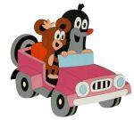 Porovnat ceny DoDo Drevená dekorácia velká Krtko v autíčku 33x31x0,6 cm